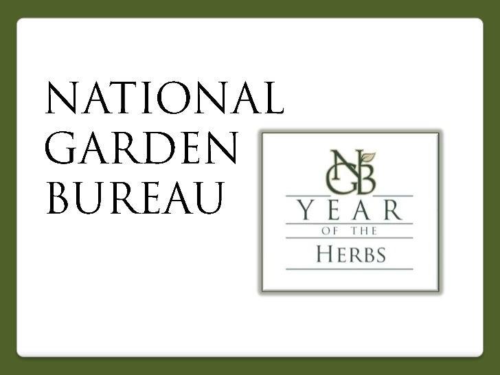 2012 National Garden Bureau Year of the Herbs