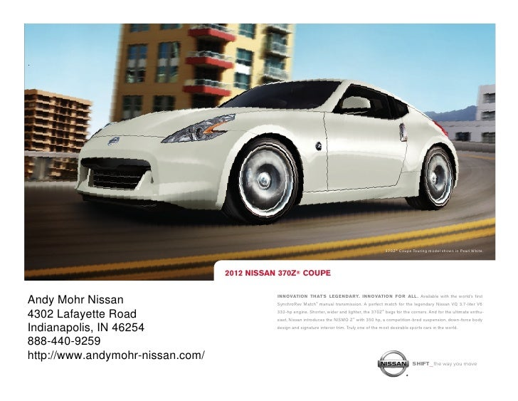 Nissan Dealership Indianapolis >> 2012 Nissan 370 For Sale In Nissan Dealer In Indianapolis