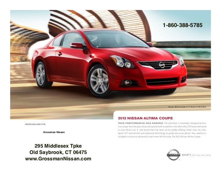 2012 nissan altima coupe leather sl heated seats for sale middletown. Black Bedroom Furniture Sets. Home Design Ideas