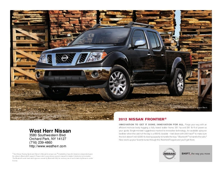 Superior ... NY | Nissan Dealer Near Buffalo. Frontier Crew Cab SL Shown In Super  Black.