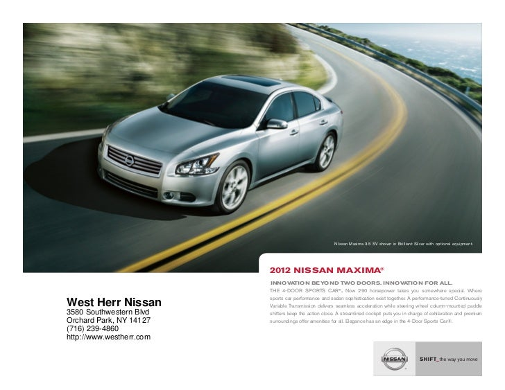 High Quality ... NY | Nissan Dealer Near Buffalo. NIssan Maxima 3.5 SV Shown In  Brilliant Silver With Optional Equipment.