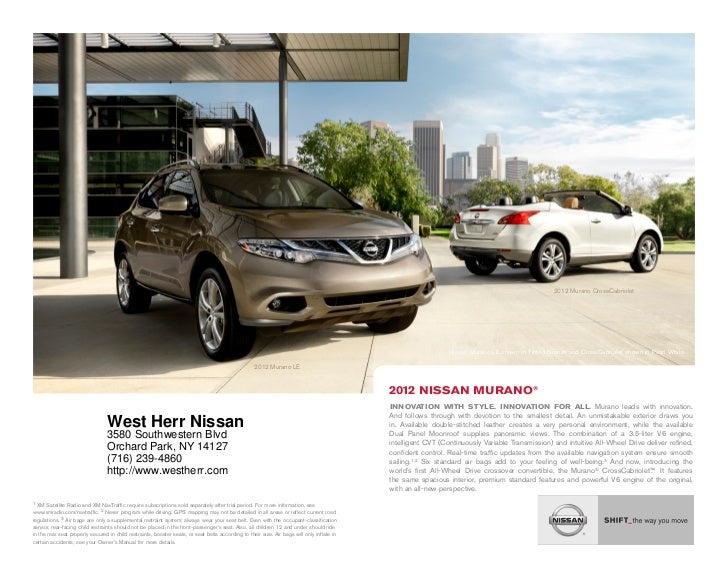 Good ... NY | Nissan Dealer Near Buffalo. 2012 Murano CrossCabriolet .
