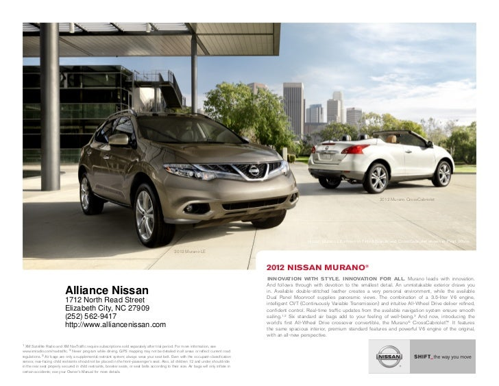 ... NC | Nissan Dealer Near Jacksonville. 2012 Murano CrossCabriolet .