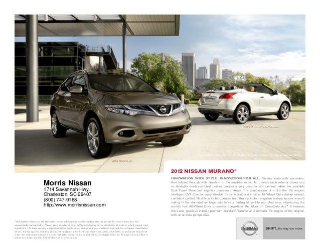 Honda Dealership Charleston Sc >> 2012 Nissan Murano For Sale Sc Nissan Dealer Charleston
