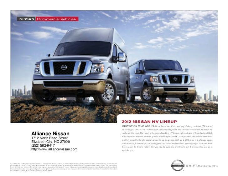 2012 Nissan Nv For Sale Nc Nissan Dealer Near Jacksonville