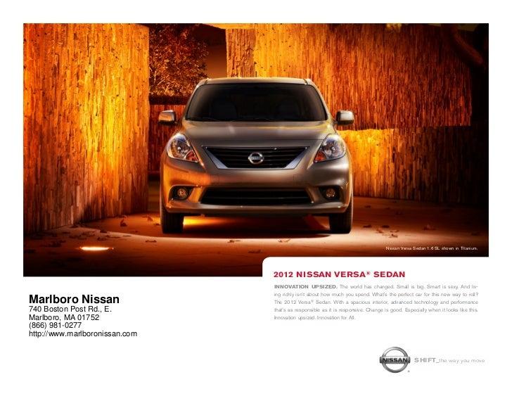 Nissan Versa Sedan 1.6 SL shown in TItanium.                                2012 NissaN VERsa® sEdaN                      ...