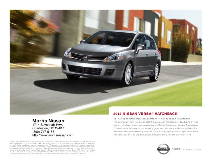 Amazing ... SC | Nissan Dealer Charleston. Nissan Versa 1.8 S Hatchback Shown In  Magnetic Gray.