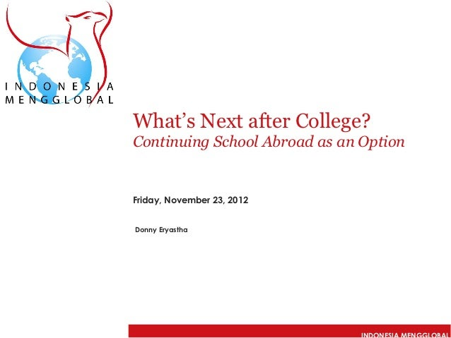what s next after college