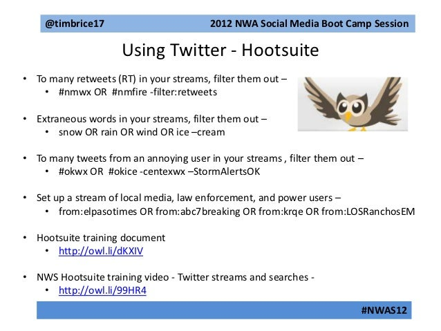 2012 NWA Social Media Boot Camp Sponsored by The Weather Channel