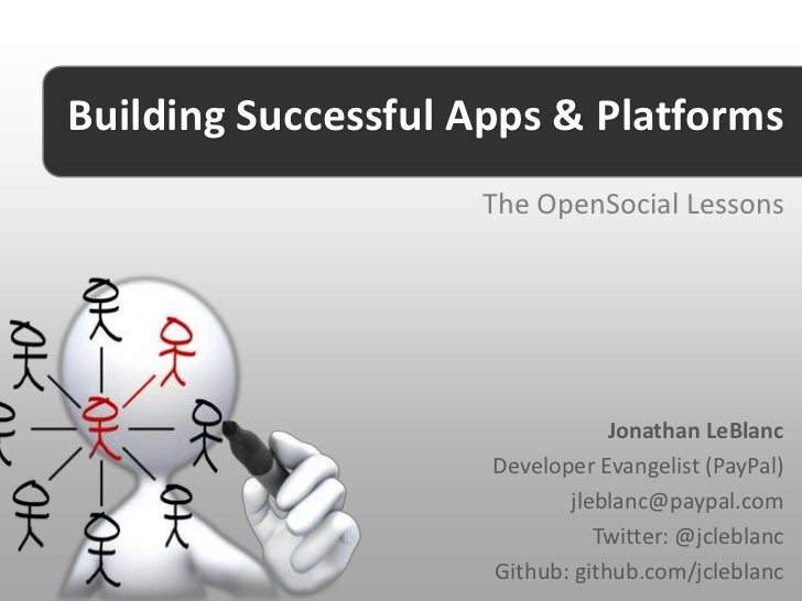 Building Successful Apps & Platforms                    The OpenSocial Lessons                                 Jonathan Le...