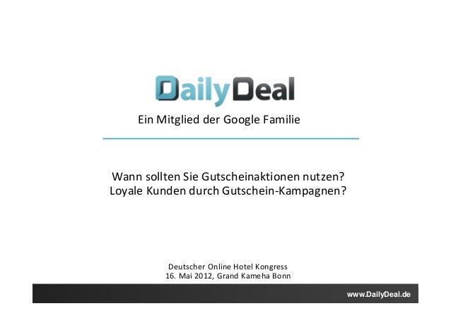 Ein Mitglied der Google Familie                                          Ein                   Wann sollten Sie Gutscheina...