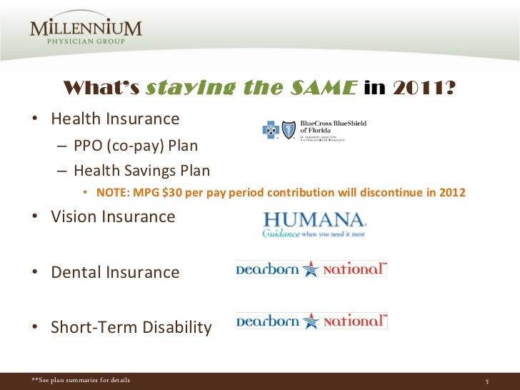 What's  staying the SAME  in   2011? <ul><li>Health Insurance  </li></ul><ul><ul><li>PPO (co-pay) Plan </li></ul></ul><ul>...