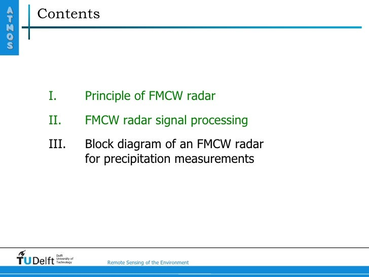 Fmcw radar block diagram pdf