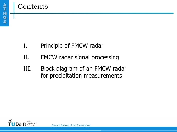 Principle Of Fmcw Radar