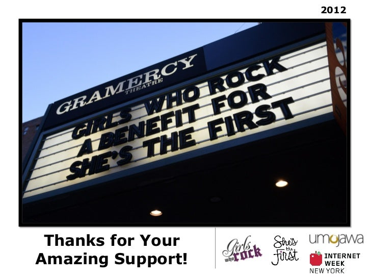 2012 Thanks for YourAmazing Support!