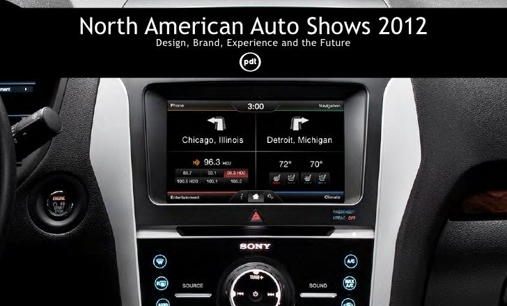 North American Auto the Future 2012       Design, Brand, Experience and                                     Shows