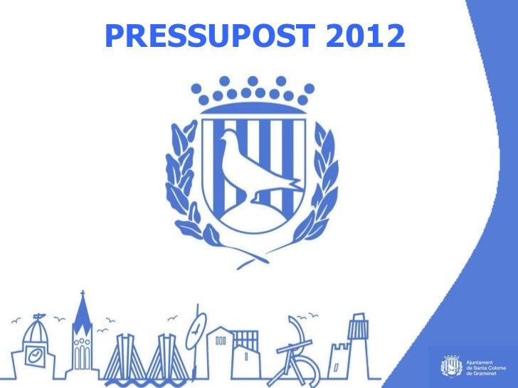 PRESSUPOST   2012