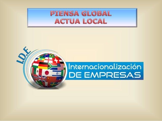 1.- InternacionalizaciónEn España el 95% de las empresas que tienen una páginaweb lo ofertan en 2 o menos idiomas y no hac...