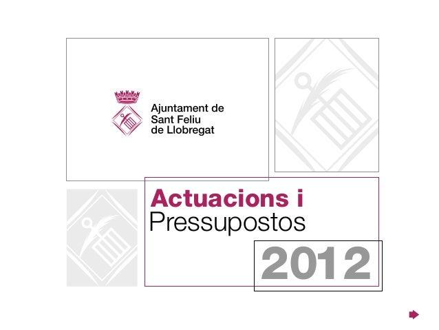 Actuacions iPressupostos        2012
