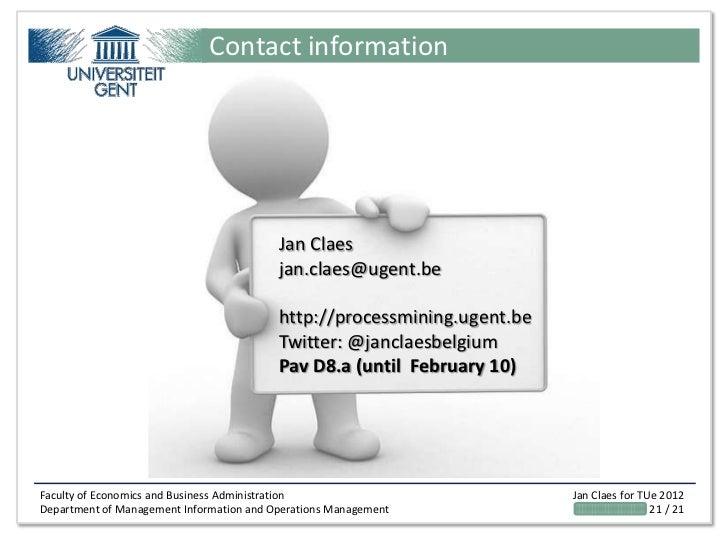 Contact information                                          Jan Claes                                          jan.claes@...