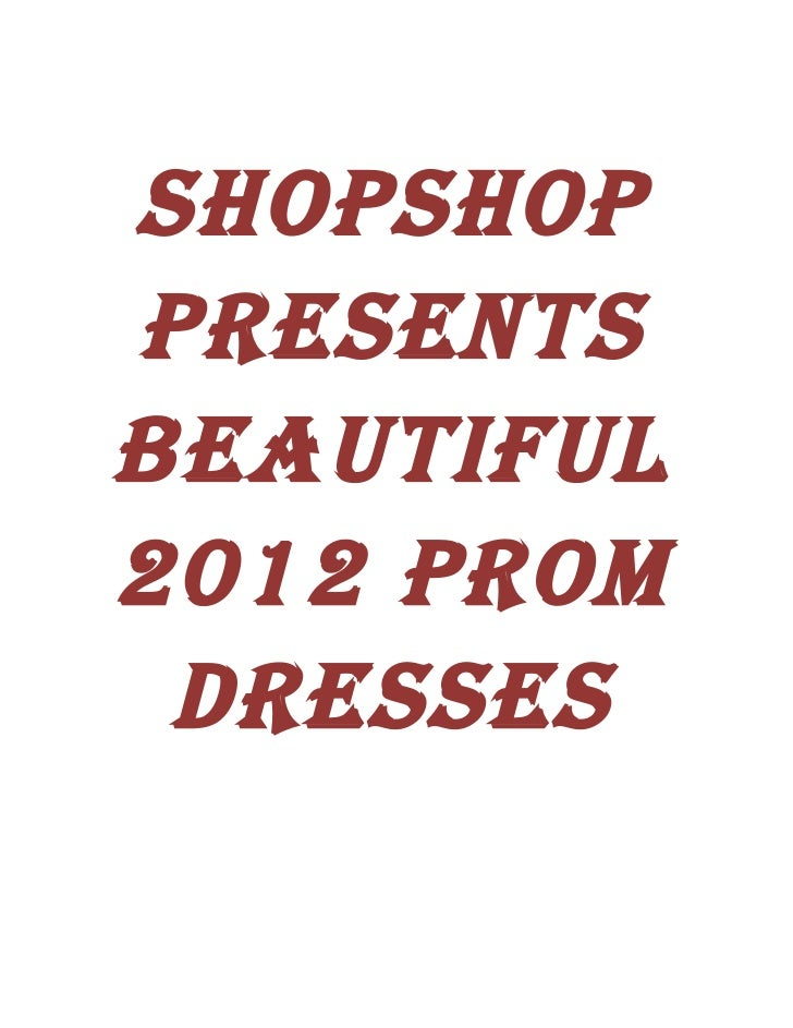2012 prom dresses  go innovative