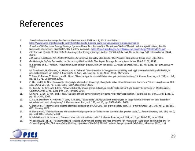 Lithium Ion Abuse Test Methods Improvement Presentation