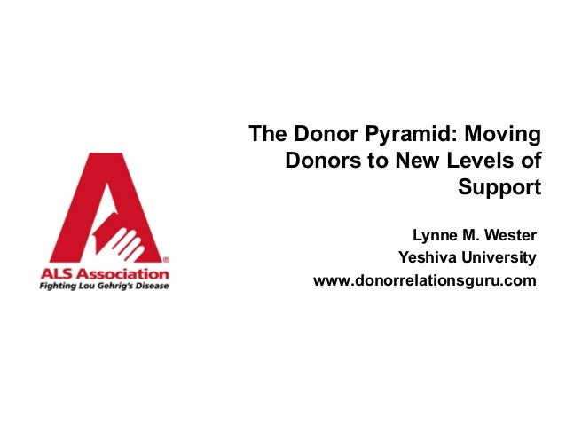 The Donor Pyramid: Moving Donors to New Levels of Support Lynne M. Wester Yeshiva University www.donorrelationsguru.com