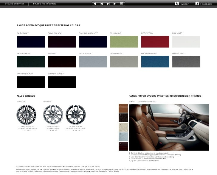 Land Rover  Paint Colours