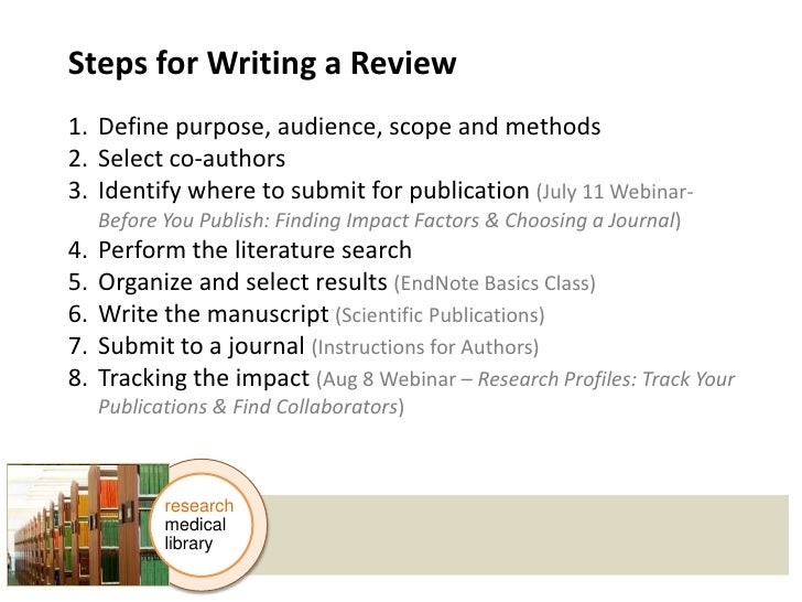 How to write a review article?