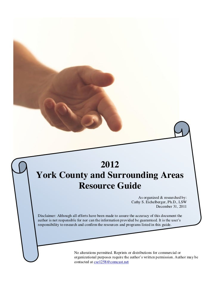 2012York County and Surrounding Areas         Resource Guide                                                              ...
