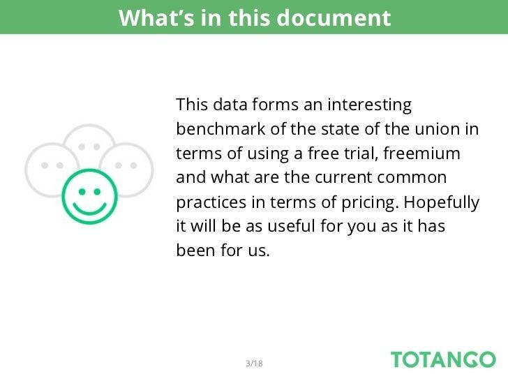 2012 saas free trial, freemium, pricing benchmark Slide 3