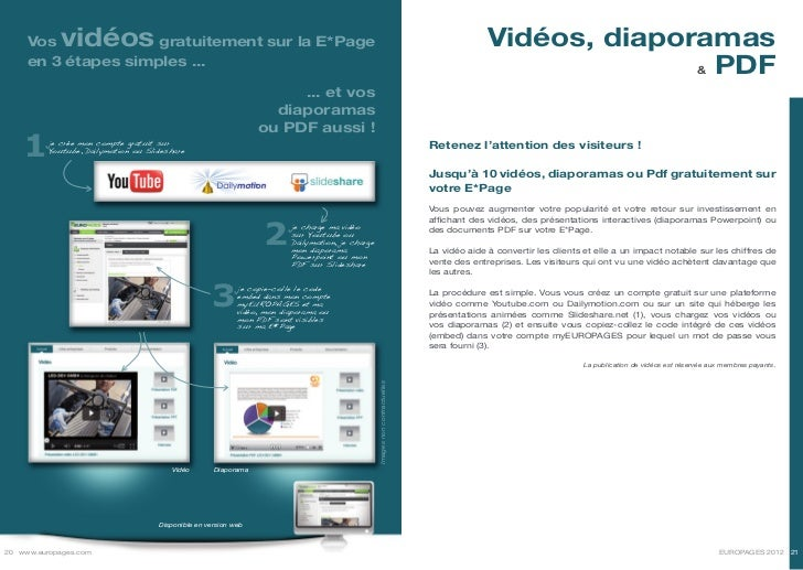 Vos     vidéos  gratuitement sur la E*Page                                                                                ...