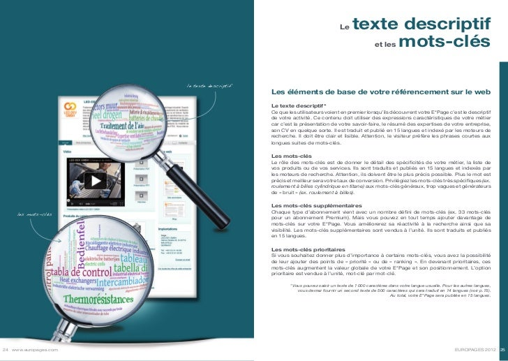Le     texte descriptif                                                                                                  e...