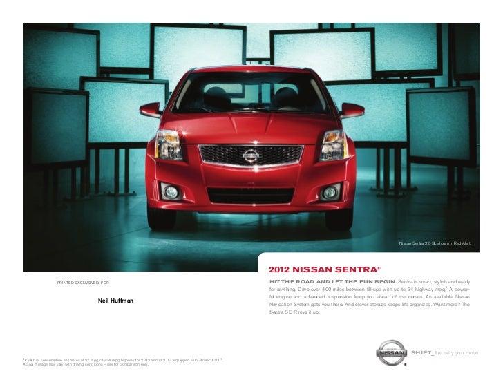 2012 Nissan Sentra brochure by Neil Huffman Nissan Louisville KY