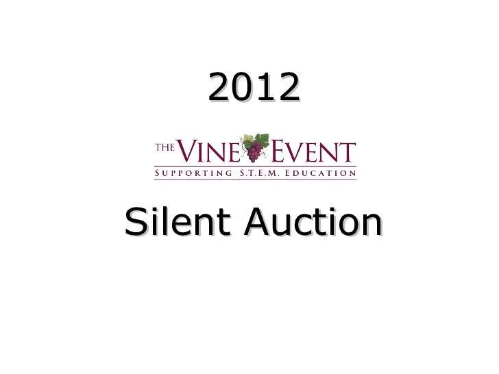2012Silent Auction
