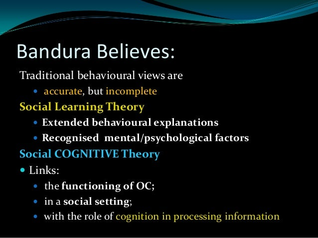 information processing theory influencing cognition Cognition, a review (2 of 2)  building on goal setting theory,  information processing capabilities, associated knowledge structures.