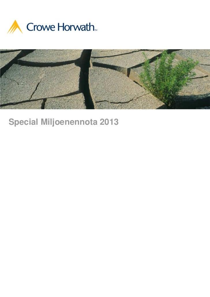 Special Miljoenennota 2013