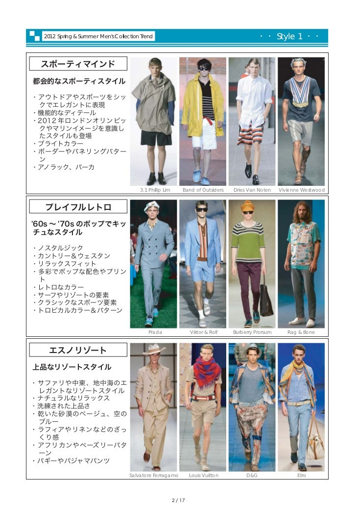 2012S/S Men's Collection Report by PREAL Slide 3