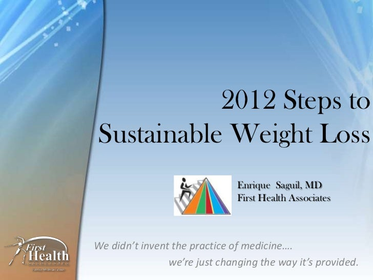 2012 Steps toSustainable Weight Loss                               Enrique Saguil, MD                               First ...