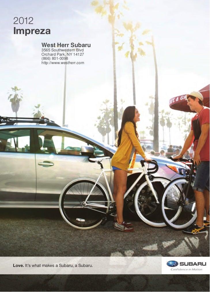West Herr Subaru >> 2012 Subaru Impreza For Sale Ny Subaru Dealer Near Buffalo