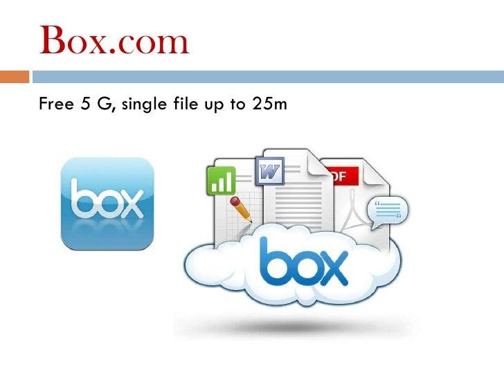 Box.comFree 5 G, single file up to 25m