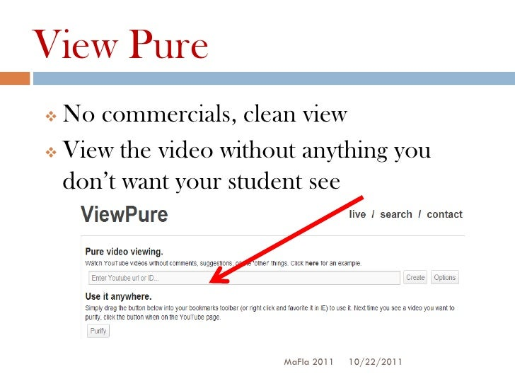 View Pure No commercials, clean view View the video without anything you  don't want your student see                   ...