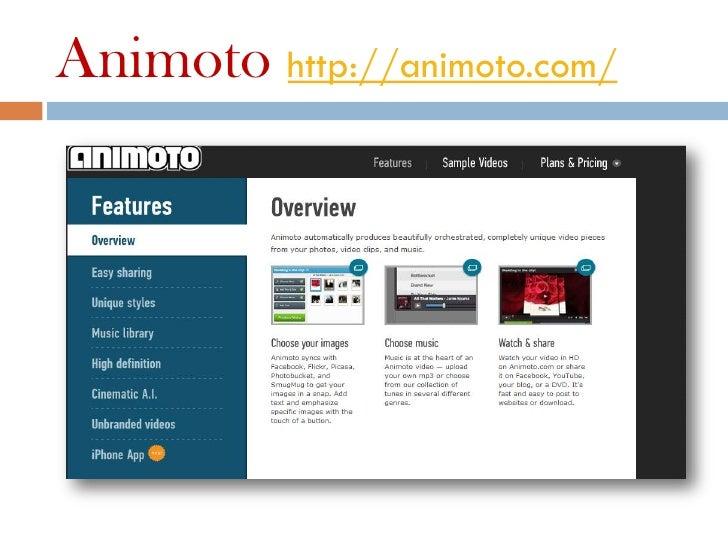 Animoto http://animoto.com/