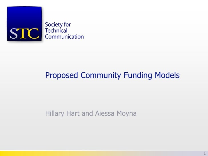 Proposed Community Funding ModelsHillary Hart and Aiessa Moyna                                    1