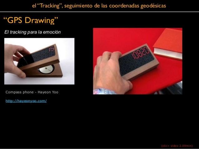 """El tracking para la emoción """"GPS Drawing"""" el """"Tracking"""", seguimiento de las coordenadas geodésicas Compass phone - Hayeon ..."""