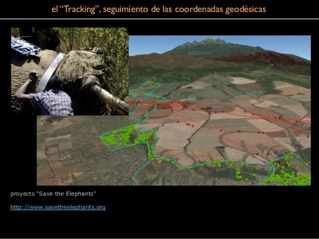 """el """"Tracking"""", seguimiento de las coordenadas geodésicas proyecto """"Save the Elephants"""" ! http://www.savetheelephants.org"""