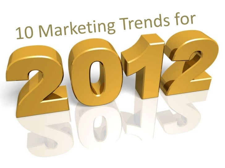 Things change… …including the way we need to       look at marketing.Here are 10 MarketingTrends to think about…