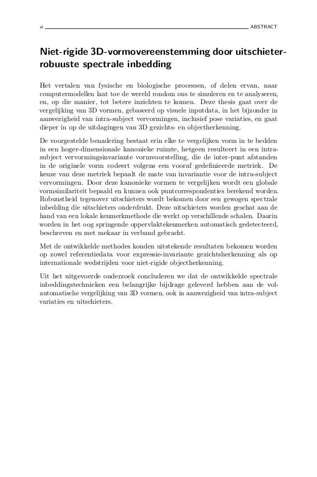 thesis vermelden op cv