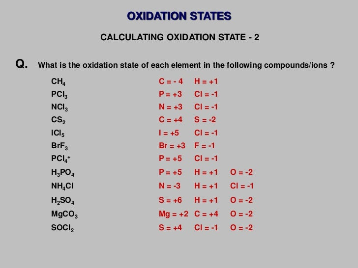 assign oxidation numbers to each atom in h2o2