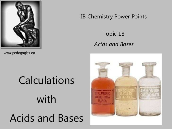 IB Chemistry Power Points                                   Topic 18                                Acids and Baseswww.ped...